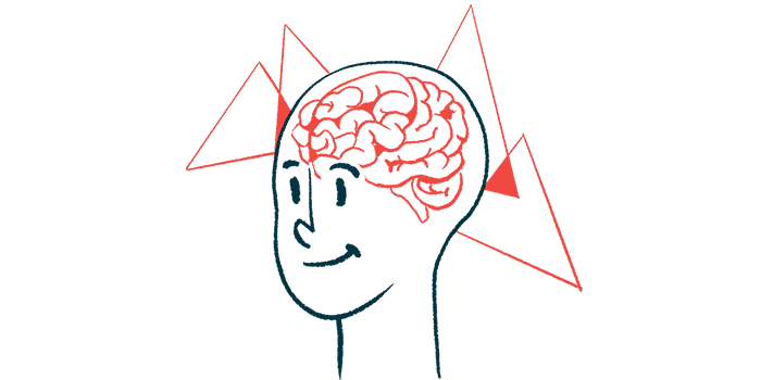 gene therapy | Sanfilippo Syndrome News | Illustration of brain seen through the skull of smiling face